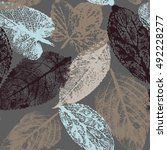 autumn beige seamless stylized... | Shutterstock . vector #492228277