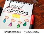 social enterprise written in a... | Shutterstock . vector #492238057