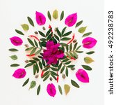 Natural Flower Mandala Made Of...