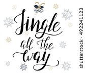 christmas poster template with... | Shutterstock .eps vector #492241123