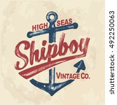 anchor. vintage label with an...