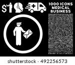 white postman vector rounded... | Shutterstock .eps vector #492256573