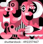 abstract fine art portrait of... | Shutterstock .eps vector #492257467