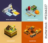 Mining Concept Isometric Icons...