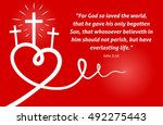 christian scripture with... | Shutterstock .eps vector #492275443