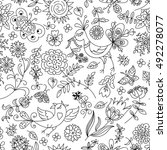 Doodle Style  Summer Floral...