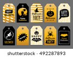 vector set of tags and labels... | Shutterstock .eps vector #492287893