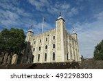 london  tower of london  white... | Shutterstock . vector #492298303