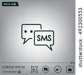 sms sign icon   Shutterstock .eps vector #492300553