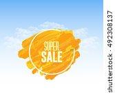 watercolors website banner... | Shutterstock .eps vector #492308137