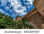 Small photo of View of the walls of the Alcazaba of Almeria (Almeria Castle), Spain