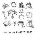 hand drawn vector illustrations ... | Shutterstock .eps vector #492311053