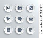 web icons set   vector white...