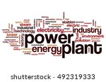 power plant word cloud concept | Shutterstock . vector #492319333