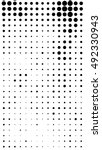black dots on white background. ... | Shutterstock . vector #492330943