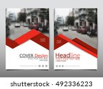 red technology cover business... | Shutterstock .eps vector #492336223