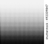 circle halftone element ... | Shutterstock .eps vector #492339847