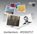 vector infographic company... | Shutterstock .eps vector #492343717