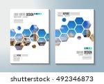 brochure template  flyer design ... | Shutterstock .eps vector #492346873