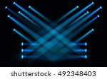 vector light effect spotlight... | Shutterstock .eps vector #492348403