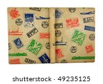 cover of old stamp album... | Shutterstock . vector #49235125