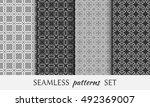 seamless geometric line... | Shutterstock .eps vector #492369007
