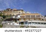 stunning amalfi coast. positano | Shutterstock . vector #492377227
