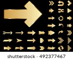 arrow vector 3d button icon set ... | Shutterstock .eps vector #492377467