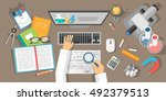 vector flat design illustration ... | Shutterstock .eps vector #492379513