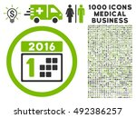 2016 day icon with 1000 medical ... | Shutterstock .eps vector #492386257
