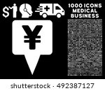 yen map pointer icon with 1000... | Shutterstock .eps vector #492387127