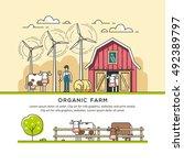 organic farm. vector...   Shutterstock .eps vector #492389797