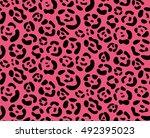 leopard  seamless pattern... | Shutterstock .eps vector #492395023