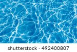 surface of swimming pool water... | Shutterstock . vector #492400807