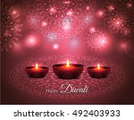elegant illuminated oil lit... | Shutterstock .eps vector #492403933