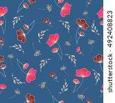 seamless vector pattern of... | Shutterstock .eps vector #492408823