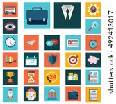 set of various financial... | Shutterstock .eps vector #492413017