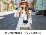 photographer travel sightseeing ... | Shutterstock . vector #492415507