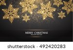 elegant christmas background... | Shutterstock .eps vector #492420283