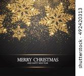 elegant christmas background... | Shutterstock .eps vector #492420313