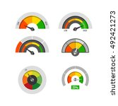 speedometer indicators gauges... | Shutterstock .eps vector #492421273