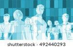business people success... | Shutterstock . vector #492440293
