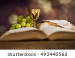 sacrament of communion ... | Shutterstock . vector #492440563