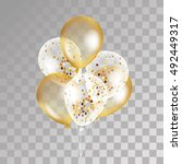 Gold Transparent Balloon On...