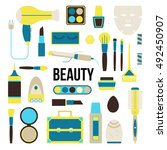 beauty things concept... | Shutterstock .eps vector #492450907