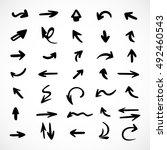 hand drawn arrows  vector set | Shutterstock .eps vector #492460543