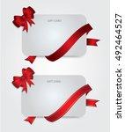design white gift card or... | Shutterstock .eps vector #492464527