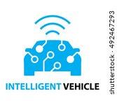 smart car intelligent vehicle... | Shutterstock .eps vector #492467293