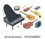 music  vector isometric concept ...   Shutterstock .eps vector #492468883