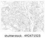 black and white drawing of a...   Shutterstock .eps vector #492471523